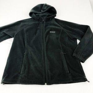 Black Hooded Columbia Fleece 2X